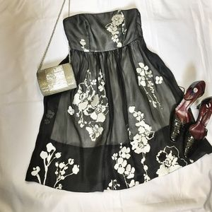 White House Black Market Silk  Formal Party Dress